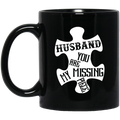 Guardian Angel Coffee Mug Husband You Are My Missing Piece 11oz - 15oz Black Mug CustomCat