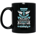 Guardian Angel Coffee Mug I Miss My Husband Everyday For The Rest Of My Life Angel Wings 11oz - 15oz Black Mug CustomCat