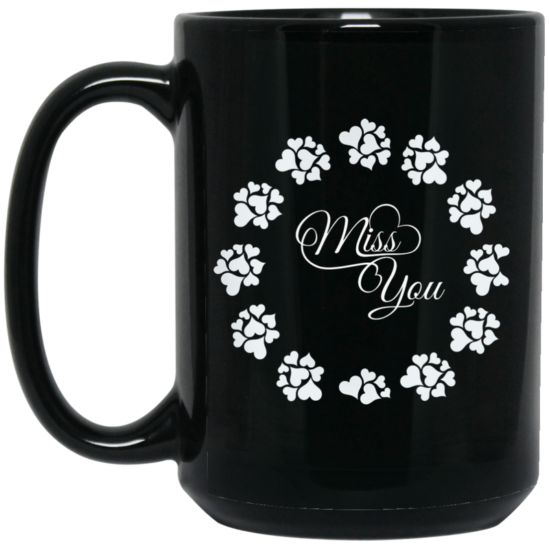 Guardian Angel Coffee Mug Miss You 11oz - 15oz Black Mug