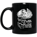 Guardian Angel Coffee Mug Mom Your Wigns Were Ready But My Heart Was Not 11oz - 15oz Black Mug CustomCat