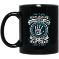 Guardian Angel Coffee Mug Mommy And Daughter Not Always Eye To Eye But Always Heart To Heart 11oz - 15oz Black Mug CustomCat