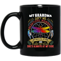 Guardian Angel Coffee Mug My Grandma Left Me Beautiful Memories Dragonfly Angel 11oz - 15oz Black Mug CustomCat