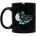 Guardian Angel Coffee Mug My Husband Was So Amazing God Made Him My Guardian Angel 11oz - 15oz Black Mug CustomCat