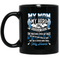Guardian Angel Coffee Mug My Mom My Hero My Guardian Angel She Watches Over My Back 11oz - 15oz Black Mug CustomCat