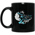 Guardian Angel Coffee Mug My Mom Was So Amazing God Made Him My Guardian Angel 11oz - 15oz Black Mug CustomCat