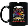 Guardian Angel Coffee Mug My Sister Left Me Beautiful Memories Dragonfly Angel 11oz - 15oz Black Mug CustomCat