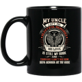 Guardian Angel Coffee Mug My Uncle Left Me Beautiful Memories Angel Wings 11oz - 15oz Black Mug CustomCat