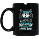 Guardian Angel Coffee Mug She Is In Every Beat Of My Heart She  Is My Sister And Angel Wings 11oz - 15oz Black Mug