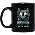 Guardian Angel Coffee Mug She Is In Every Beat Of My Heart She Is My Wife And Angel Wings 11oz - 15oz Black Mug CustomCat