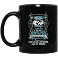 Guardian Angel Coffee Mug They Are In Every Beat Of My Heart They Are My Dad Mom Sister Angels 11oz - 15oz Black Mug CustomCat