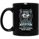 Guardian Angel Coffee Mug They Are In Every Beat Of My Heart They Are My Dad Mom Sister Angels 11oz - 15oz Black Mug