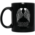 Guardian Angel I Will Cover You With His Feathers And Under His Wings You Will Find Refuge 11oz - 15oz Black Mug CustomCat