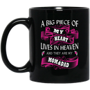 Guardian Angel Mug A Big Piece Of My Heart Lives In Heaven And They Are My Mom And Dad 11oz - 15oz Black Mug