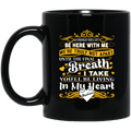 Guardian Angel Mug Although You Can't Be Here With Me You'll Be Living In My Heart Husband 11oz - 15oz Black Mug CustomCat