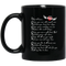 Guardian Angel Mug Dad What I Know I Know You Soar With Angels Now Until My Time Is Done 11oz - 15oz Black Mug