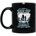 Guardian Angel Mug It's Been A Long Day Without You Grandpa And I'll Tell You See You Again 11oz - 15oz Black Mug CustomCat