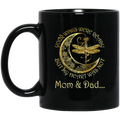 Guardian Angel Mug Mom And Dad Your Wings Were Ready But My Heart Was Not Dragonfly Angel 11oz - 15oz Black Mug CustomCat