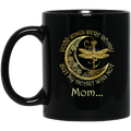 Guardian Angel Mug Mom Your Wings Were Ready But My Heart Was Not Dragonfly Angel 11oz - 15oz Black Mug CustomCat