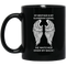 Guardian Angel Mug My Brother Is My Guardian Angel He Watches Over My Back Angel Wings 11oz - 15oz Black Mug