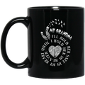 Guardian Angel Mug My Grandma I'll Hold Her Safe In My Heart Until I Hold Her In Heaven 11oz - 15oz Black Mug CustomCat