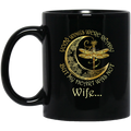 Guardian Angel Mug Wife Your Wings Were Ready But My Heart Was Not Dragonfly Angel 11oz - 15oz Black Mug CustomCat