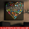 Hairstylist Canvas - Hairaholic A Heart Is Made Of Hairdressing Tools Canvas Wall Art Decor