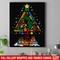 Hairstylist Canvas - Hairdressing Tools With Christmas Tree Shape Canvas Wall Art Decor