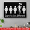 Hairstylist Canvas - Hairstylist Dares To Be Different I Do What I Want Canvas Wall Art Decor