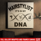 Hairstylist Canvas - In My DNA Is Hairdressing Tools And Hairstylist Canvas Wall Art Decor