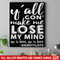 Hairstylist Canvas - Y'All Gon' Make Me Lose My Mind Up In Here Hairstylists Canvas Wall Art Decor