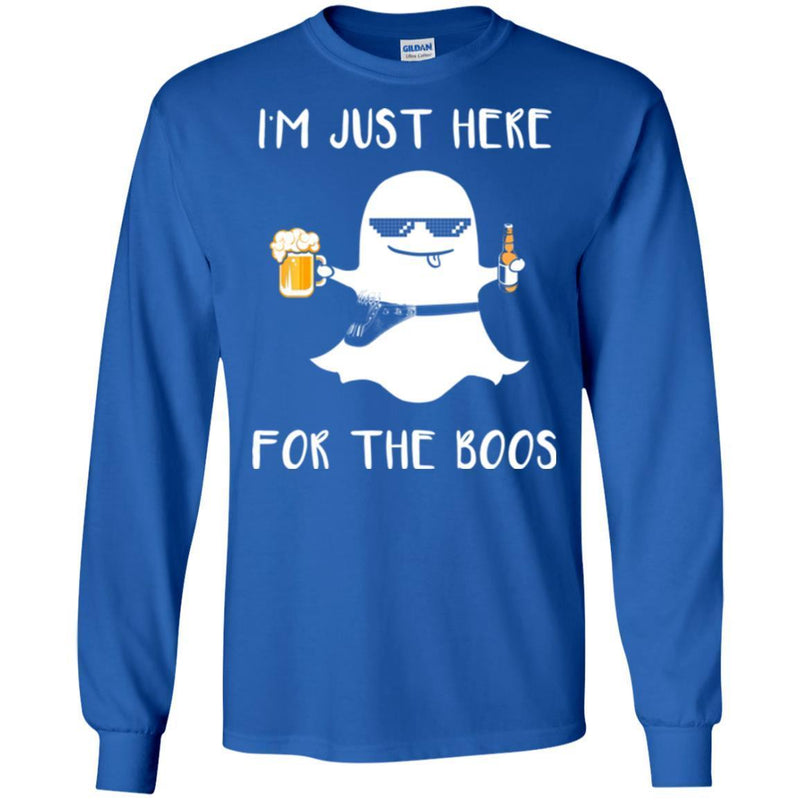 Hairstylist T-Shirt I'm Just Here With Beer For The Boos For Halloween Holiday Gifts Tee Shirt CustomCat