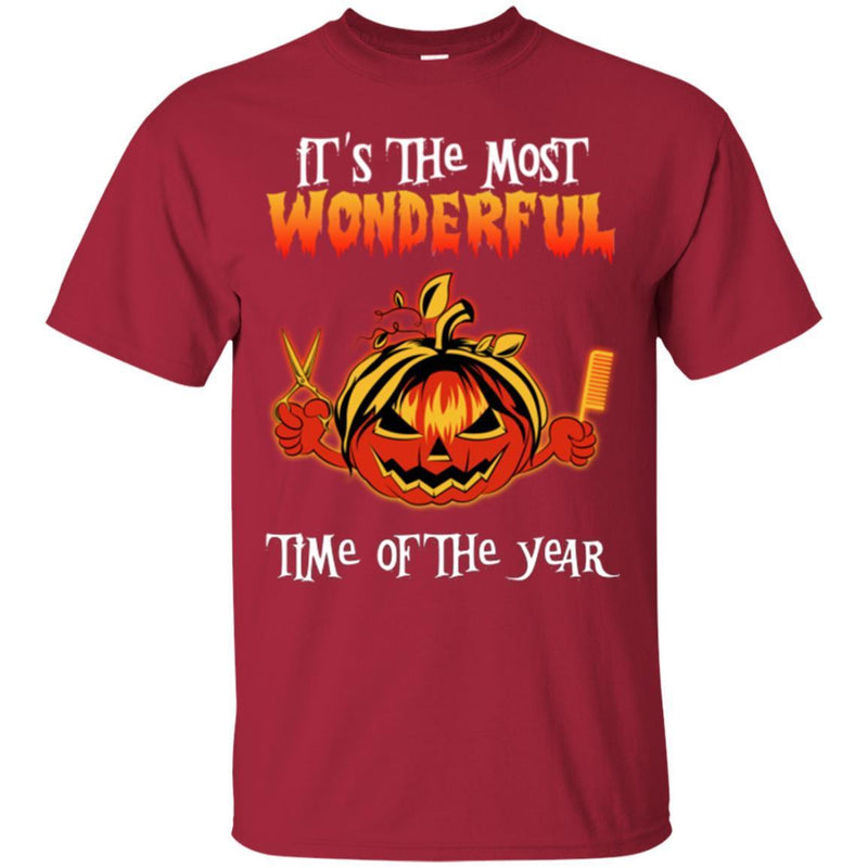 Hairstylist T-Shirt It's The Most Wonderful Time Of The Year For Funny Halloween Gift Tee Shirt CustomCat