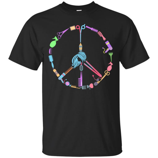 Hairstylist T-Shirt Peace Shape Is Made By Hairdressing Tools Symbol Tee Gifts Tee Shirt CustomCat