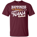 Happiness Is Being A Nana Funny T-shirts CustomCat