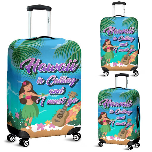 Hawaii Is Calling And I Must Go - Funny Travel Luggage Covers My Soul & Spirit