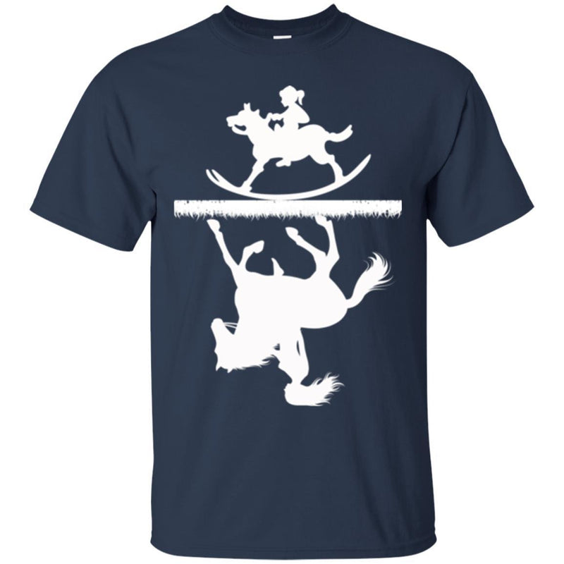 Horse T-Shirt Horse Riding Was A Dream Of Childhood Mature Too For Birthday Gifts Tee Shirt CustomCat