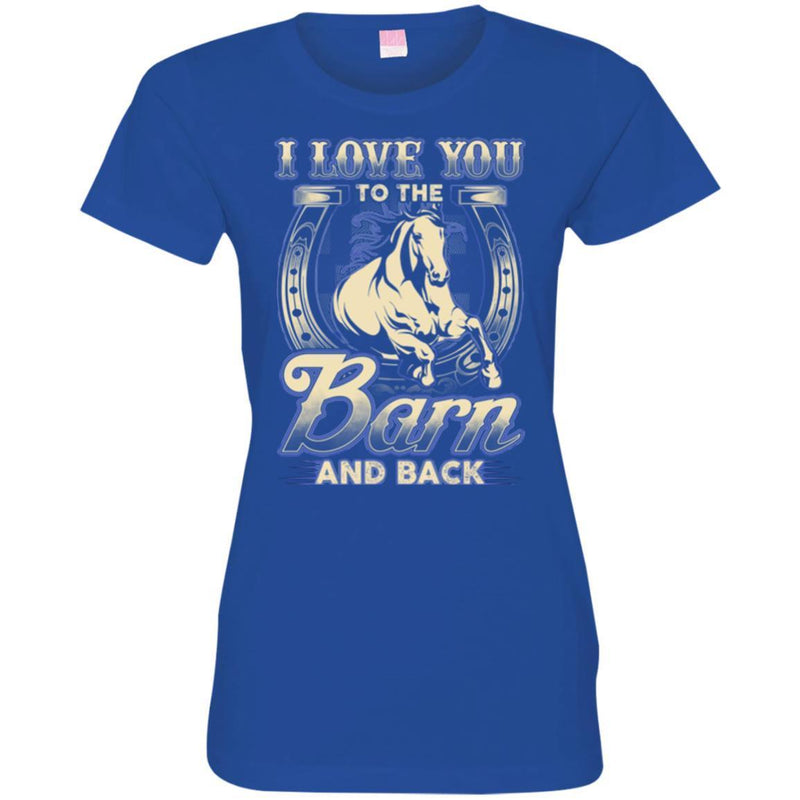 Horse T-Shirt I Love You To The Barn And Back Jockey Tee Gifts Tee Shirt CustomCat
