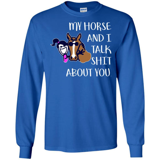 Horse T-Shirt Nice Friendship My Horse And I Talk Shit About You For Girls Birthday Tee Gift Tee Shirt CustomCat