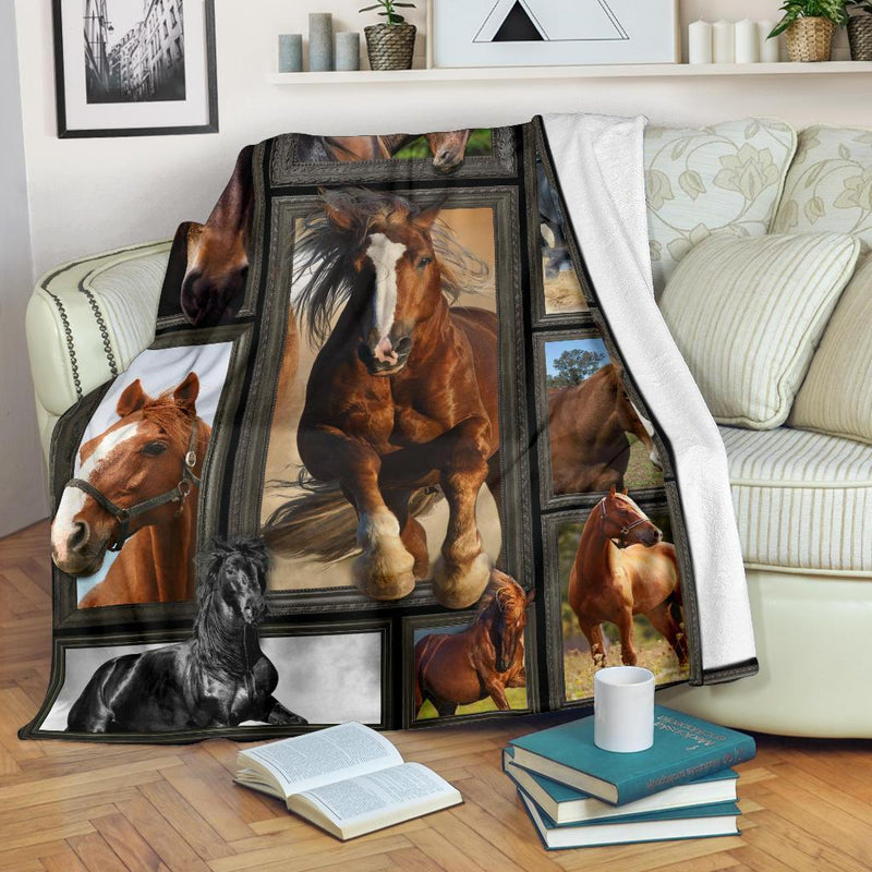 Horses 3D Fleece Blanket interestprint
