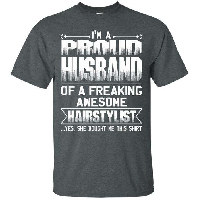 HUSBAND Of Awesom Hairstylist T-shirt & Hoodie CustomCat