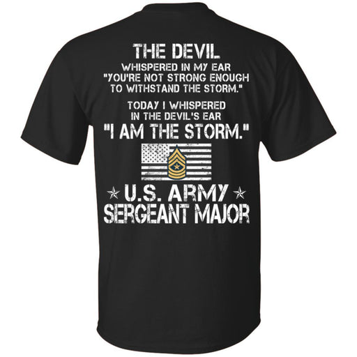 I Am The Storm - Army Sergeant Major CustomCat
