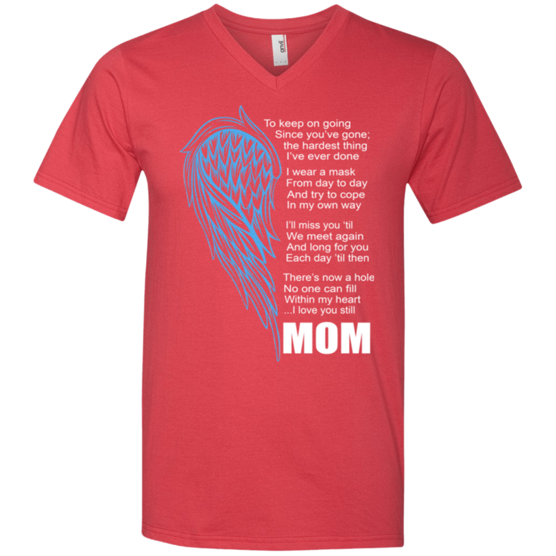 I love my mom my guardian angel T-shirts CustomCat