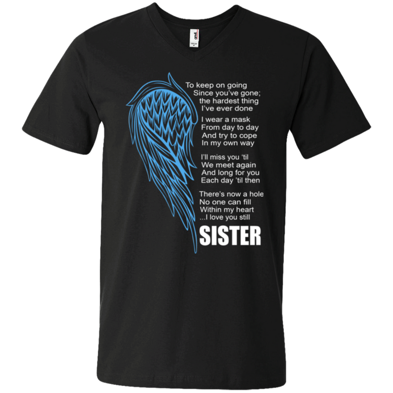 I love my sister my guardian angel T-shirts CustomCat