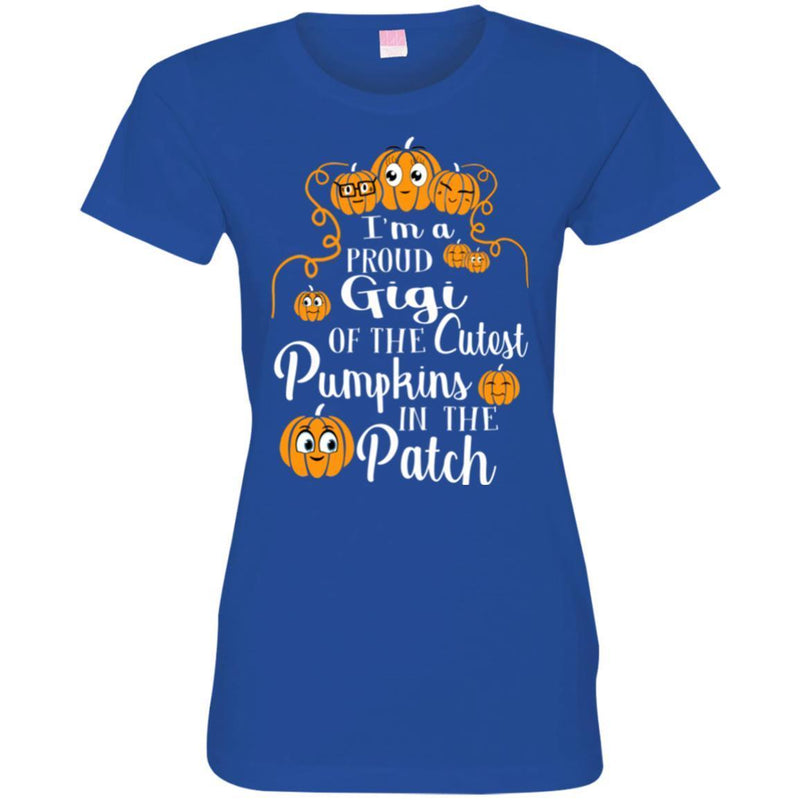 I'm a Proud Gigi Of The Cutest Pumpkins In The Patch Halloween Funny Gift T Shirts CustomCat