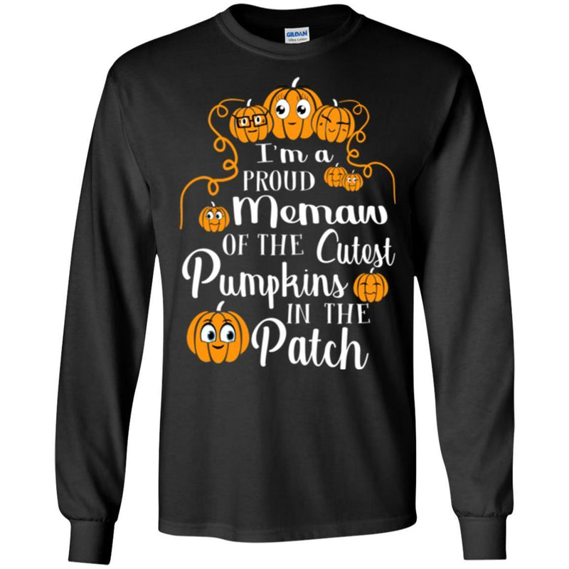 I'm a Proud Memaw Of The Cutest Pumpkins In The Patch Halloween Funny Gift T Shirts CustomCat