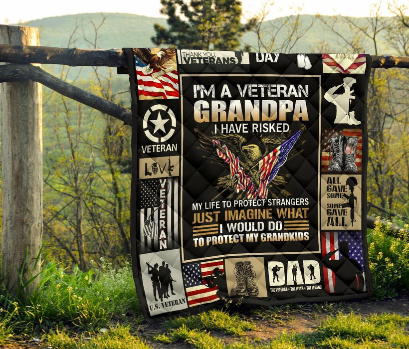 I'm A Veteran Grandpa To Protect My Grandkids My Soul And Spirit