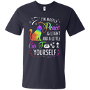 I'm mostly peace & light and a little go fuck yourself funny cat T-shirts CustomCat