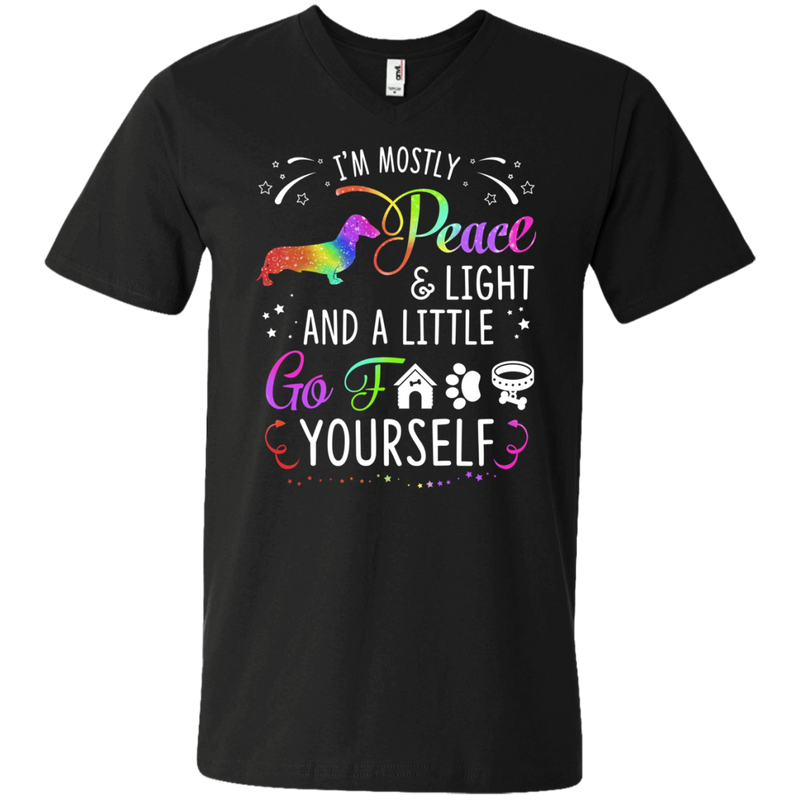 I'm Mostly Peace Light Funny T-shirt For Dachshund Lovers CustomCat