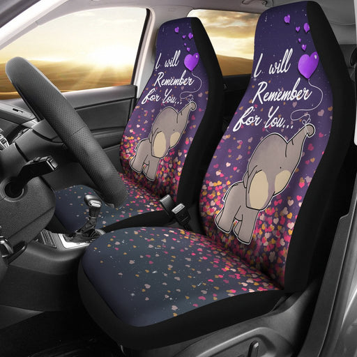 I Will Remember For You Elephant Car Seat Cover My Soul and Spirit