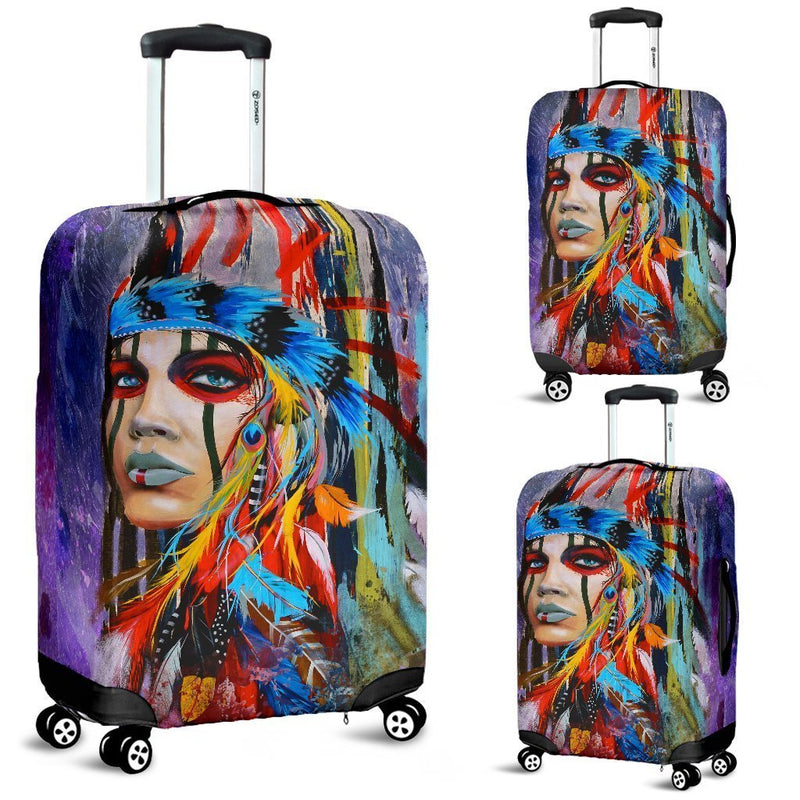 Impressive Native American Girl Luggage Cover interestprint